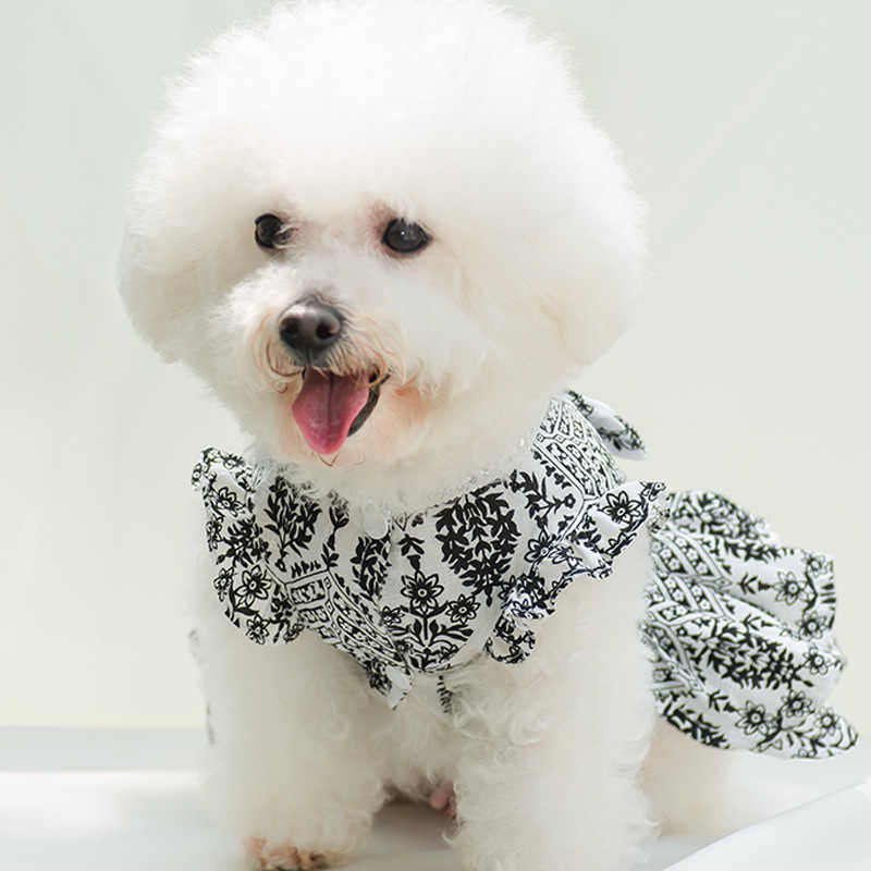 c07dd7b3b0f2 2018 Sprint Pet Dog Clothes for Dogs Summer Breathable Soft Dog Cotton  Flower Printing Dresses for