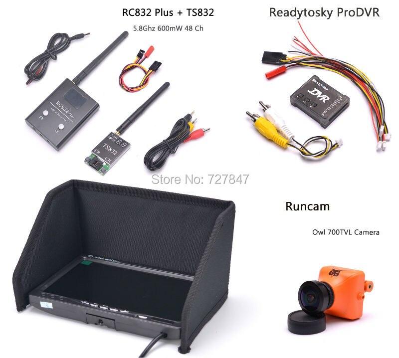 RunCam OWL PLUS 2 700TVL Camera TS832 RC832 Plus  7 inch LCD 1024 x 600 Monitor ProDVR Pro DVR Mini Video Audio Recorder for FPV promoitalia пировиноградный пилинг pro plus пировиноградный пилинг pro plus 50 мл 50 мл 45%