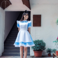 Hot Sale Alice in Wonderland Cosplay Costume Maid Outfit Women Lolita Dress Carnival Halloween Costumes New