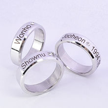 KPOP MONSTA X Ring Finger Rings for Women and Men Shownu Monsta Accessories
