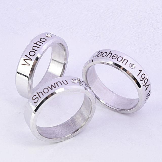 KPOP MONSTA X Ring Finger Rings for Women and Men Shownu Monsta X Accessories