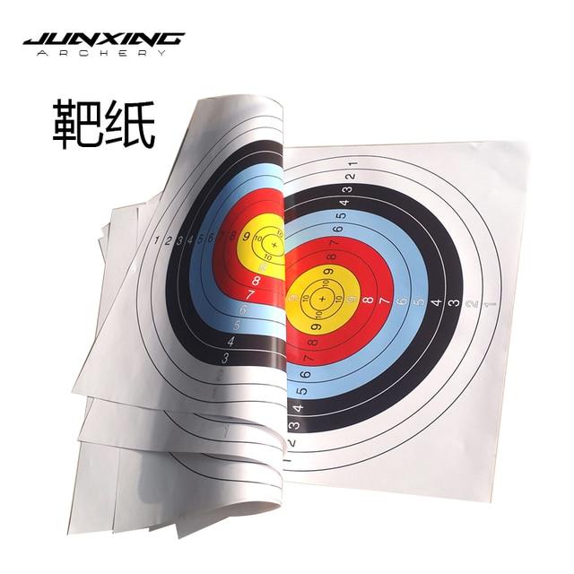 10pcs 60*60 cm/40*40 cm  Archery Shooting Target Paper Bow Hunting Archery Kit Standard Full Ring Single Spot 1