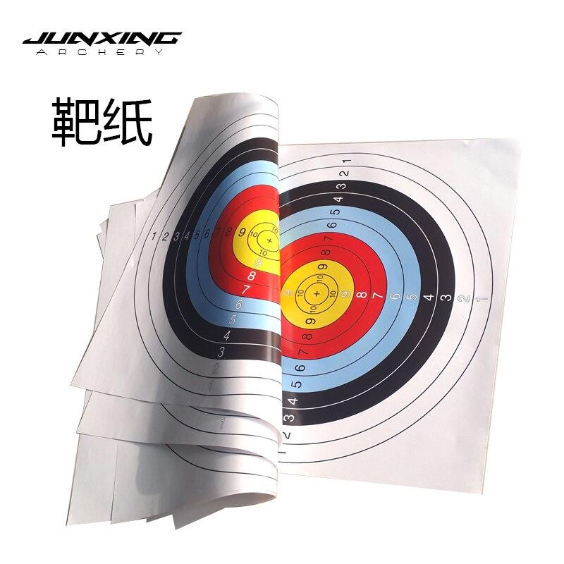 10pcs 60*60 Cm/40*40 Cm  Archery Shooting Target Paper Bow Hunting Archery Kit Standard Full Ring Single Spot