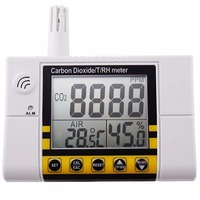 Digital Wall Mount Indoor Air Quality Temperature RH Carbon Dioxide CO2 Monitor Sensor Controller 0 2000ppm