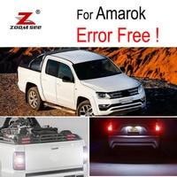 8pcs LED Parking lamp + Side marker + Reverse bulb External Lights Kit for Volkswagen Amarok (2010 2017)