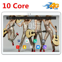 Hot New Tablets Android 7.0 10 Core 64 GB ROM de Doble Cámara y Dual SIM Tablet PC Soporte OTG WIFI GPS 4G LTE teléfono bluetooth