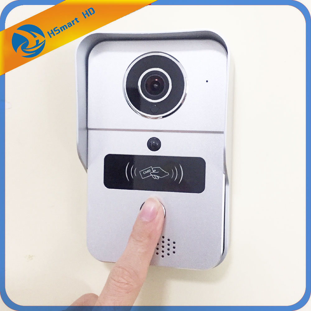 Home Smart Wireless Video Recording Video Door Phone RFID Keyfobs Wifi IP Door Bell POE Camera Add 16GB SD For ONVIF Connect NVR