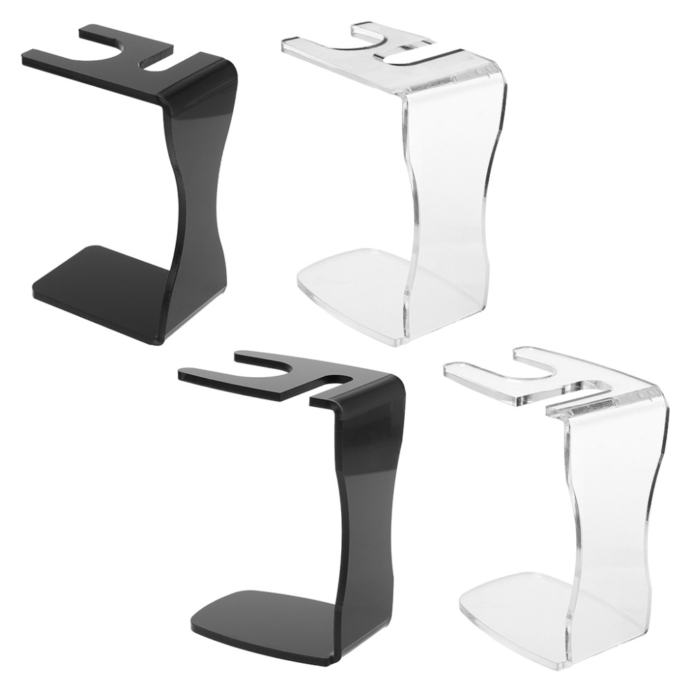 2 In1 Acrylic Shaving Stand Men Shave Brush Bowl Mug Organizer Barber Salon Home