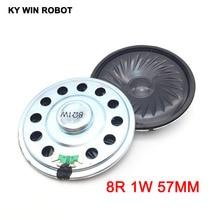 2pcs/lot New Ultra-thin speaker 8 ohms 1 watt 1W 8R Diameter 57MM 5.7CM thickness 9MM