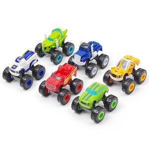 Image 1 - 1pcs Blaze רכב צעצועי רוסית מגרסה משאית כלי רכב איור Blaze צעצוע blaze את מפלצת מכונות יום הולדת מתנות לילדים