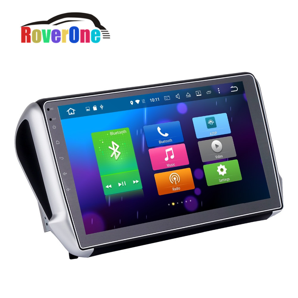 octa core android 6 0 car radio for peugeot 208 2008 with stereo receiver gps navigation. Black Bedroom Furniture Sets. Home Design Ideas