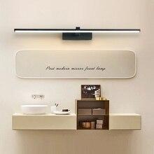 Зеркало Led свет бра для ванной белый водонепроницаемая обувь черного цвета без каблука светодиодный современный настенный светильник крытый ванная комната зеркало для макияжа