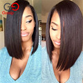 Gossip Girl 7A Indian Virgin Hair Best Full Lace Human Hair Wigs For Black Women Short Bob Lace Front Wigs Cheap Straight Wig