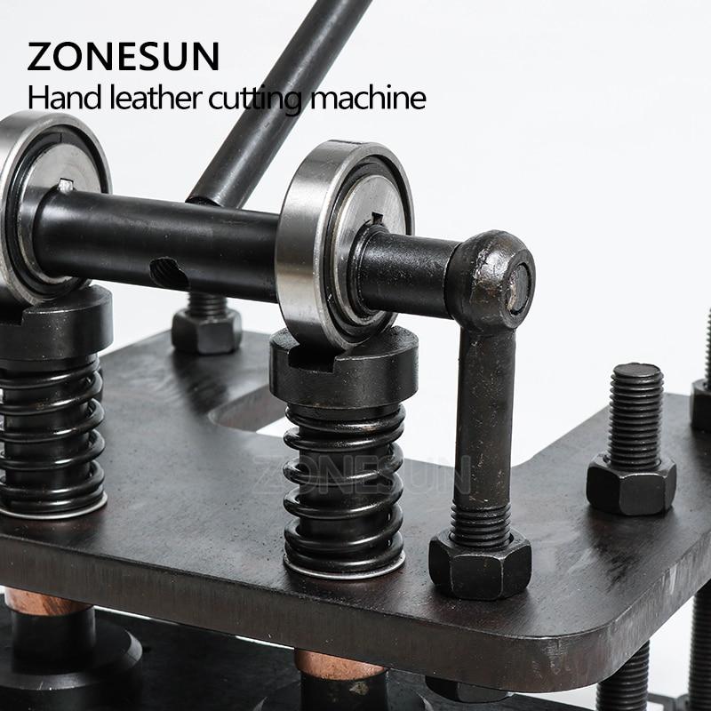 ZONESUN 2614 Hand lederen snijmachine DIY portemonnee tas fotopapier PVC/EVA blad mold cutter lederen stansen machine - 2