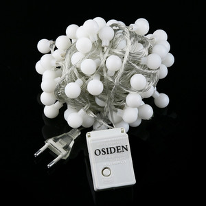 OSIDEN Globe String Light 33Ft with 80led whtie Bulbs listed for Indoor Outdoor Light Decoration for Garden,Patio,Party Wedding