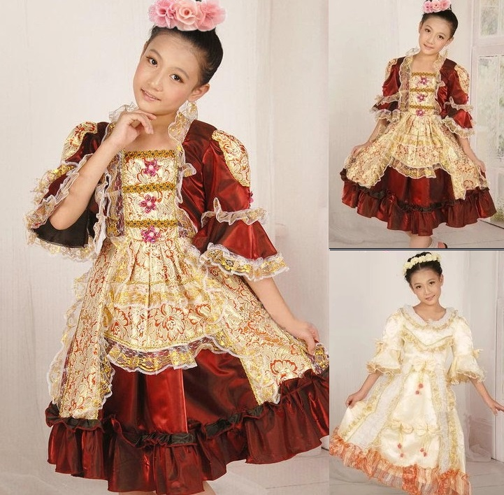 Fantasias Girls Princesses Childs Kids Traditional Russian