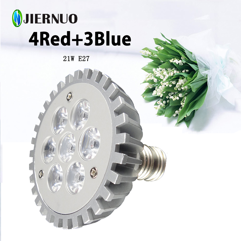 New 21W LED GROW LIGHT E27 Horticulture LED Plant Lamp For Flowering Plant And Hydroponics System Grow Box, AC85-265V AE
