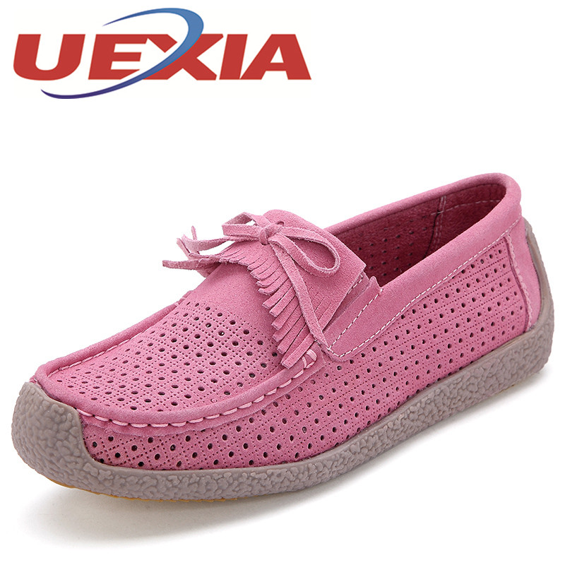 Big Size 36-41 Summer Women Casual Slip On Shoes Fashion Fringe Style Flat Loafers Shoes For Women Outdoor Breathable Zapatos siketu sweet bowknot flat shoes soft bottom casual shallow mouth purple pink suede flats slip on loafers for women size 35 40
