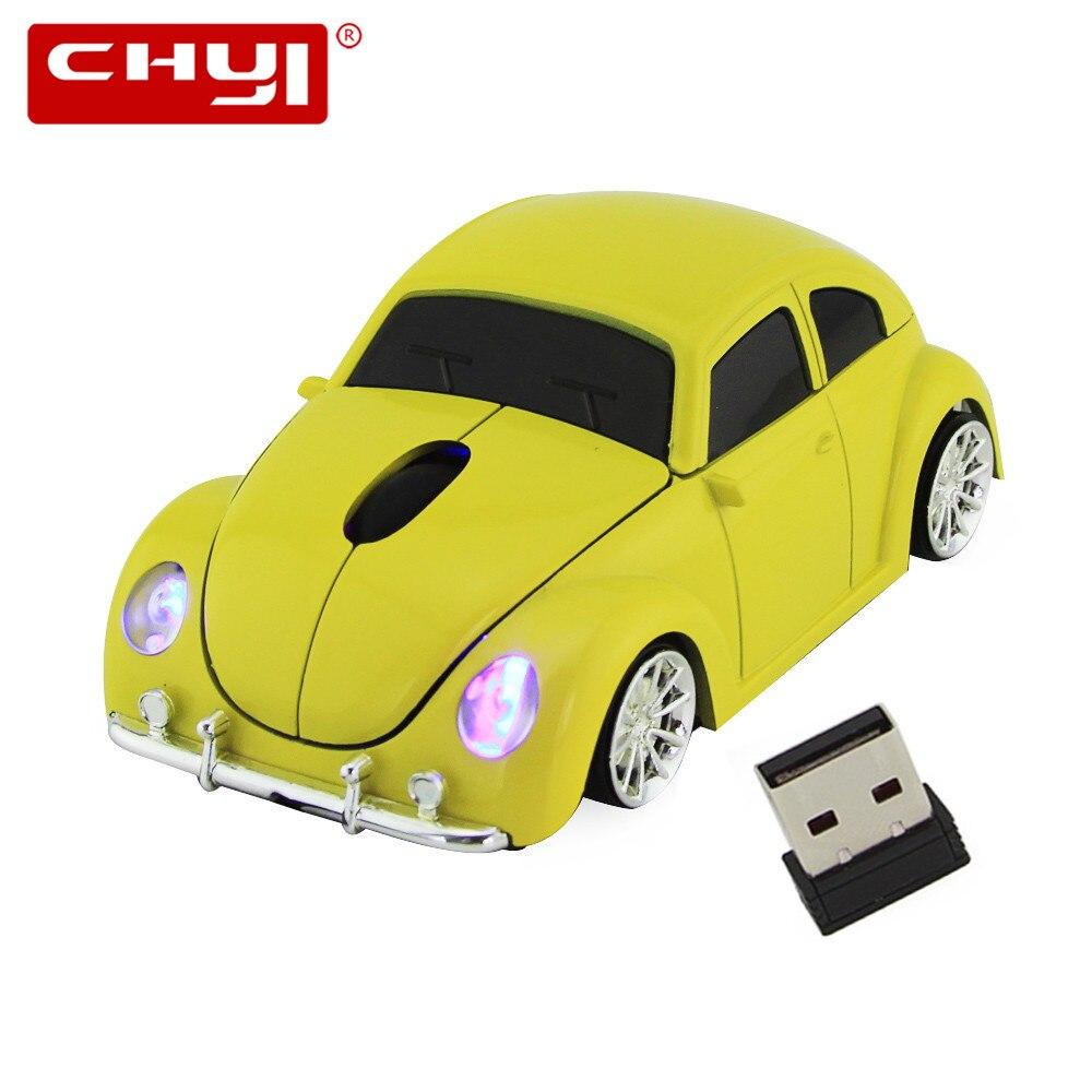 De 3D inalámbrico USB ratón óptico ratón de ordenador Coche VW escarabajo FORMA DE Mause error de los Beatles para PC de escritorio de envío gratis