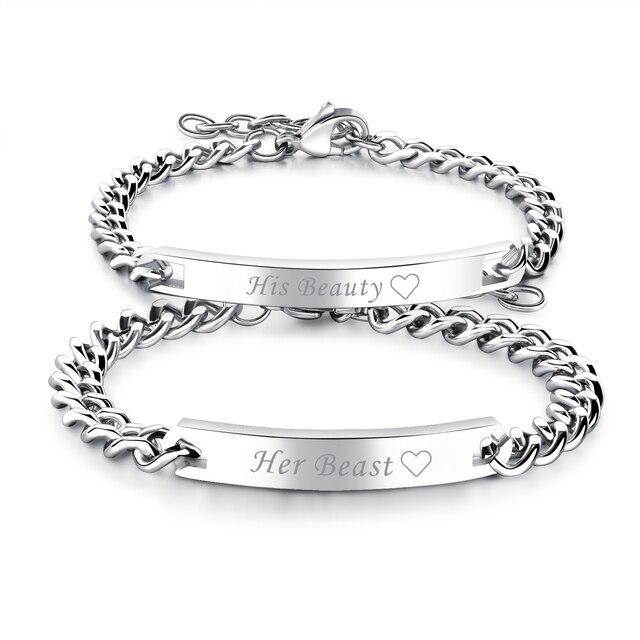 8b86462ecd BONISKISS New Fashion Lovers' Bracelets