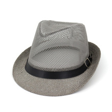 Summer Mens Panama Hat Women Straw Sun Hats Hollow Cap for Girls Vintage Beach Belt Buckle Fedoras Jazz