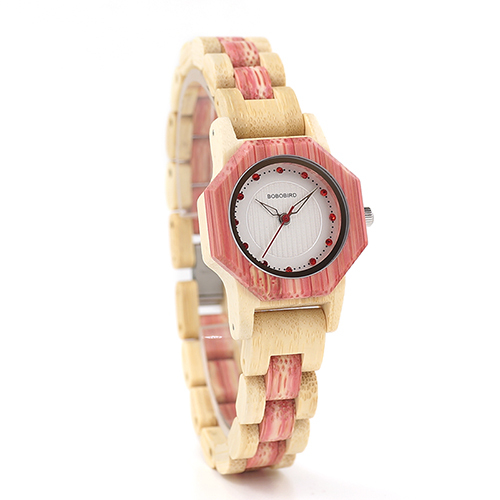 BOBO BIRD Female Wooden Watch Fashion Colors Bling Scales Dial Faces Wooden Watch from Tree Woman in Box Drop Shipping Orologi | Fotoflaco.net