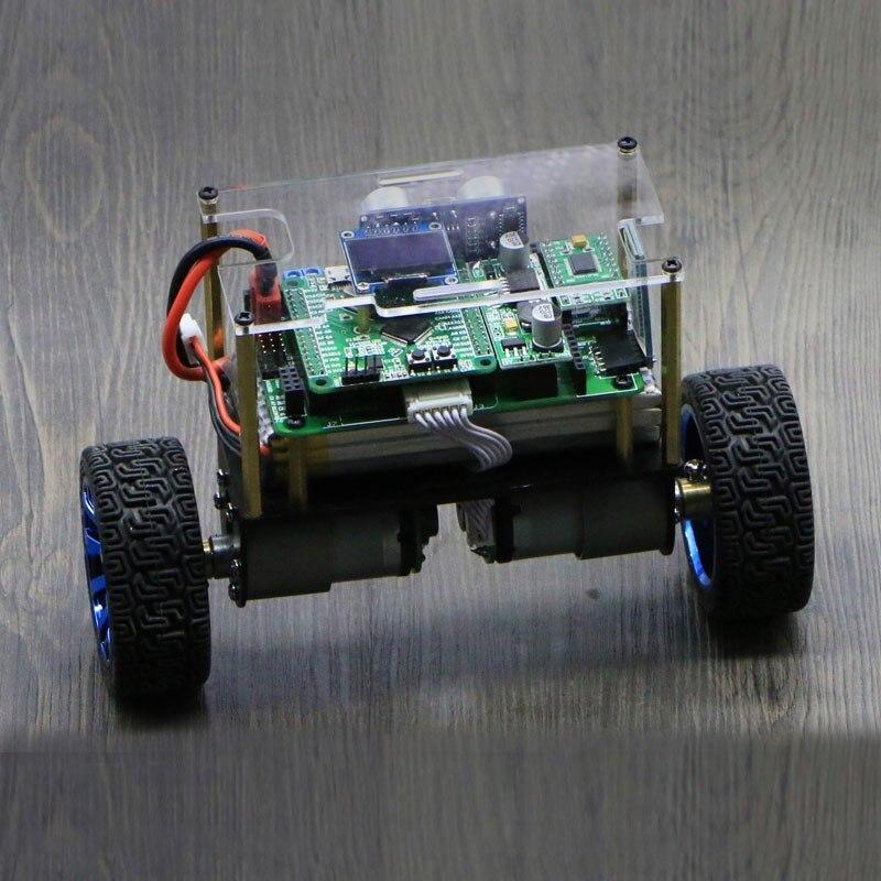 2018 RC Баланс шасси автомобиля 2WD w/зал энкодера 66 мм колеса STM32F103RCT6 плате контроллера