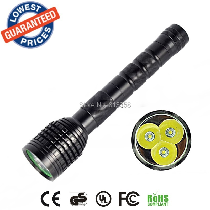 AloneFire HF3 hunting flashlight 3XCREE XML T6 LED 5000LM Flashlight 18650 Torch 3T6 LED Tactical Flash Light Lantern linternas фонарик led flashlight skyray 5 x t6 xml 3 5000lm 18650 xml t6