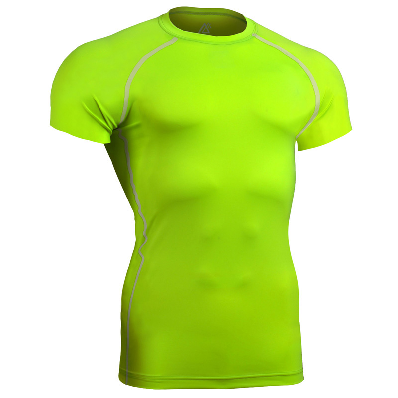2018 Summer Style Male Short Sleeve T-shirts Tshirt Big Man Plus Size compression shirts breathable Golf Shirts For Men