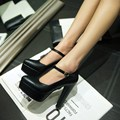 Free Shipping  high heels party shoes Sexy PU leather women pumps Plus Size:31 32 33-43