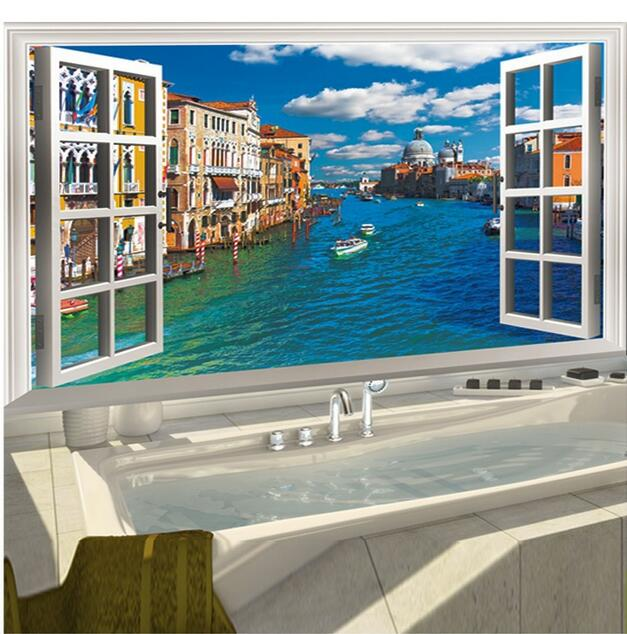 Retro Wall Decals Europe Style Wall Sticker 3D Effect Windows Water Venice  View Living Room Bedroom. Popular Retro Style Bedroom Buy Cheap Retro Style Bedroom lots