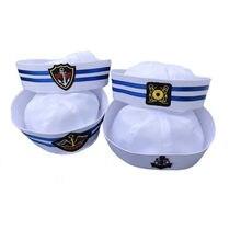 815ecd95de Homens Marinheiro Grande Seta Marinheiro da Marinha militar Chapéus Tampas  de Verão Capitão Cap Desempenho Chapéu Das Mulheres 4.