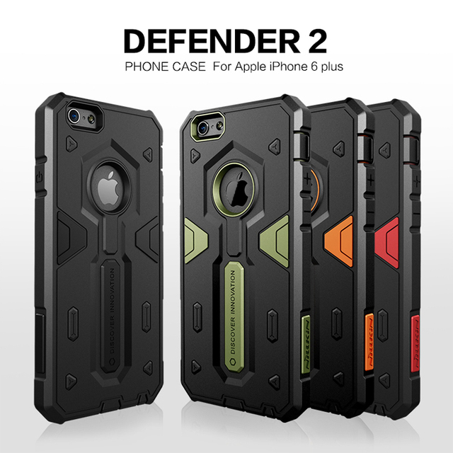 wholesale dealer 475d0 72fc5 US $9.89 10% OFF|TPU+PC For iPhone 6 Plus Case Nillkin DEFENDER 2 Luxury  Hybrid Slim Armor Case For Apple iPhone 6S Plus Phone Back Covers-in Fitted  ...