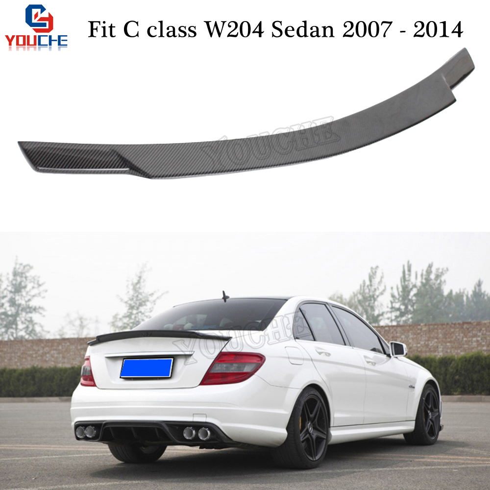 <font><b>W204</b></font> Rear <font><b>Spoiler</b></font> Wing C74 Style Carbon Fiber Trunk Lip for <font><b>Mercedes</b></font> <font><b>Benz</b></font> <font><b>C</b></font> <font><b>Class</b></font> <font><b>W204</b></font> 4-door Sedan 2007 - 2014 C180 C250 C300 image
