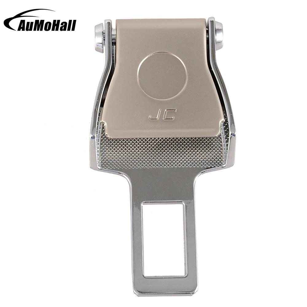Hebilla del cinturón de seguridad del acero inoxidable del extensor del clip del cinturón de seguridad del color plateado del coche