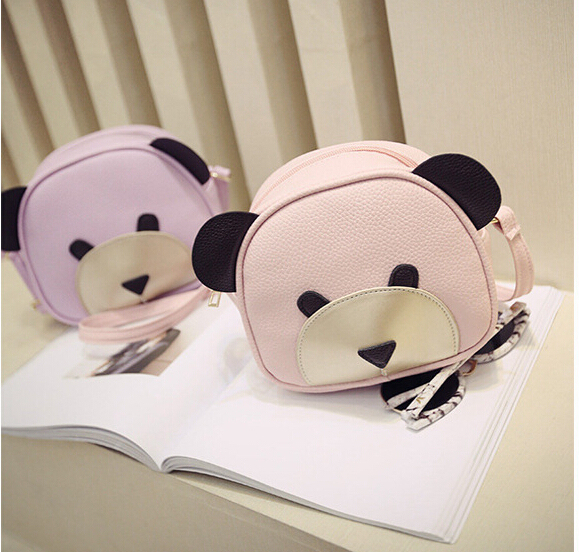 2017 Lady PU Leather Handbags Animal Cute Bear Face Women Bag Baby Girl Mini messenger Shoulder Bag For Women Cross Body Bags