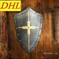 Cosplay Medieval Escudos Decorativos Para A Cruz de Cavaleiro Do Exército Cruz Escudo Histórico Parede Pendurado Decoração Ornamento BoxedT127