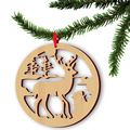 5pcs Plain Natural Wood Christmas Ornaments Wedding Home Decorations Hollow Small Pendant