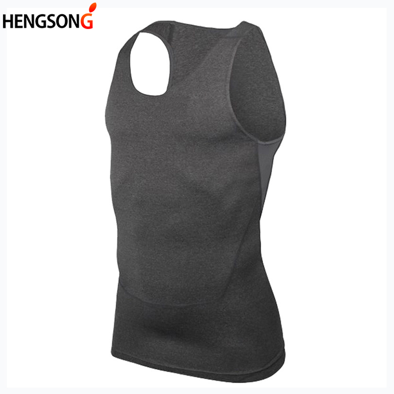 Casual Men Compression Shirt Tops Sleeveless Fitness Tank Tops Base Layer Bodybuilding Tank Tops Man Undershirt