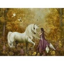 diamond painting Women and unicorns,diamond embroidery icons,diamond  rhinestone