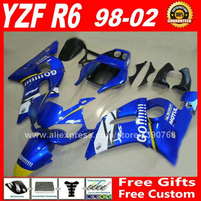 Fairings fit for YAMAHA R6 YZFR6 1998 1999 2000 2001 2002 OEM color plastic parts yzf-r6 98 99 00 01 02 fairing kits W5F8 motorcycle front light headlight upper bracket pairing for yamaha yzfr6 yzf r6 yzf r6 1999 2000 2001 2002 99 00 01 02