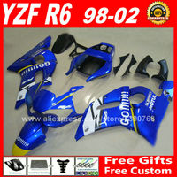Fairings fit for YAMAHA R6 YZFR6 1998 1999 2000 2001 2002 OEM color plastic parts yzf r6 98 99 00 01 02 fairing kits W5F8