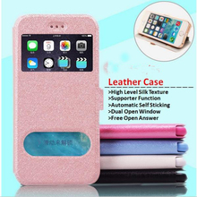 Hot Magnetic Leather luxury Window Stand Case for iPhone 5 5