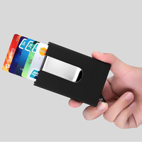 Cash Clip Case Quilted Card Holder Waterproof Business ID Card Credit Card Money Pocket Box Holder