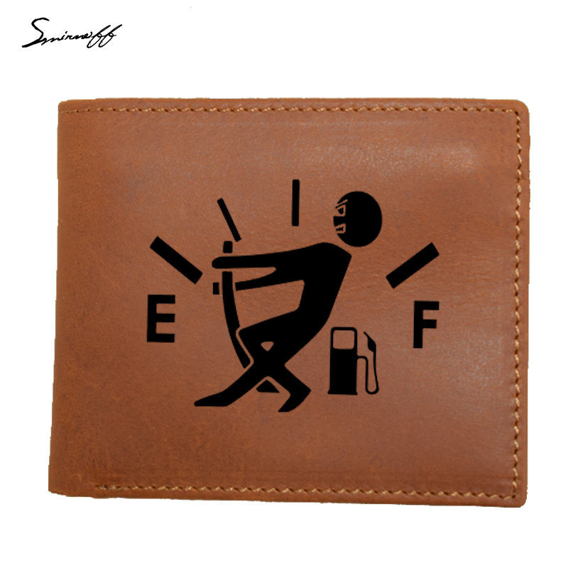 100% genuine leather mens wallet Pull Fuel Tank Pointer real cowhide wallets man short coffee orange walet portefeuille homme
