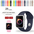 El deporte de silicona correa para apple watch band 42mm 38mm iwatch sport band 25 colores