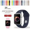 Esporte silicone strap para apple watch band 42mm 38mm iwatch banda esporte 25 cores
