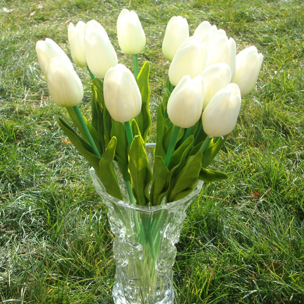 Aliexpress buy pu latex real touch fake flower in bulk 137 aliexpress buy pu latex real touch fake flower in bulk 137mini artificial tulip flowers wholesale 100 pcs cheap weddinghome decoration from izmirmasajfo Image collections