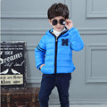 Children's Clothing Male Winter Cotton-padded Jacket 2016 Down Cotton Wadded Jacket Boys Thicken Hooded Coat Boys Parka