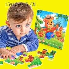 Diy деревянная головоломка для детей игрушка когнити на пазле Infantil Пазлы деревянные игрушки для детей Educatief Speelgoed Kleuters игрушки